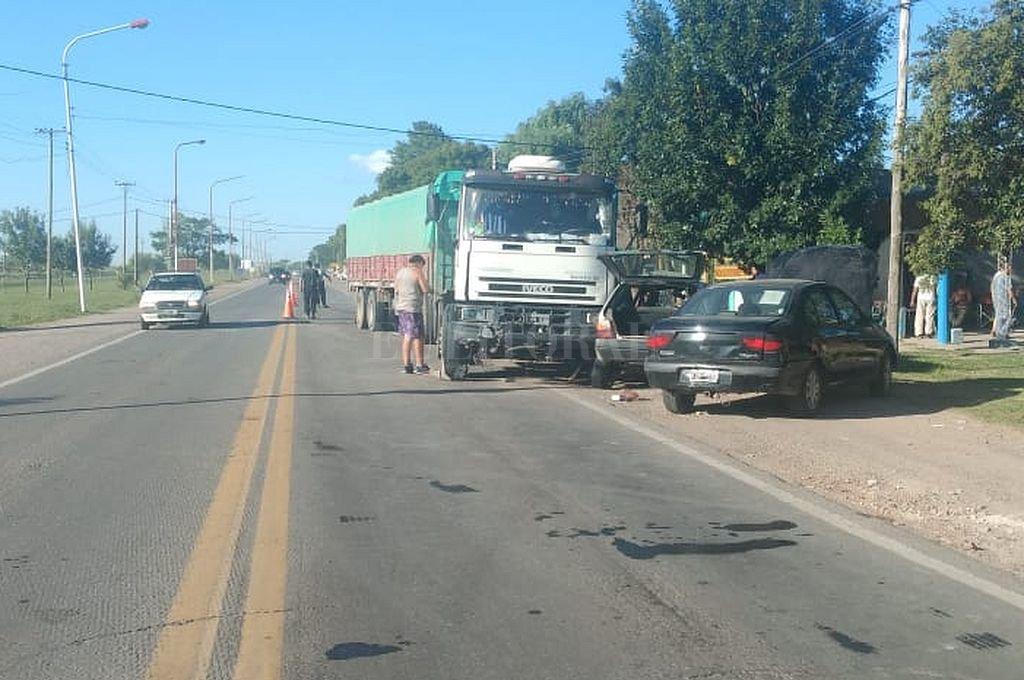 Chocaron un camión y un auto en Sauce Viejo