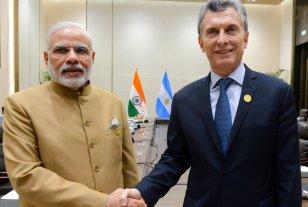 Gira por Asia: Macri lleg a la India  - El presidente Macri ya se ha encontrado en otras oportunidades con el Primer Ministro de la India, Narendra Modi. -