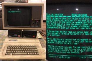 Viral: Encontró su computadora de hace 30 años con recuerdos impagables -  -
