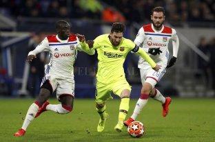 Barcelona y Lyon igualaron sin goles en los octavos de final de ida