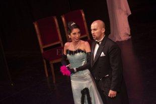 Canto lírico y cine - La soprano Lucila Aiudi y el tenor David Laborie. -