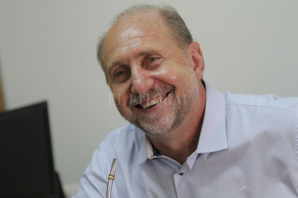 Senador nacional y precandidato a gobernador Omar Perotti.  Crédito: Pablo Aguirre