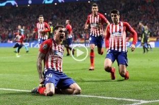 Dos uruguayos le dieron el triunfo al Atlético Madrid ante la Juventus