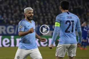 Con gol de Agüero, el City le ganó al Schalke en Alemania