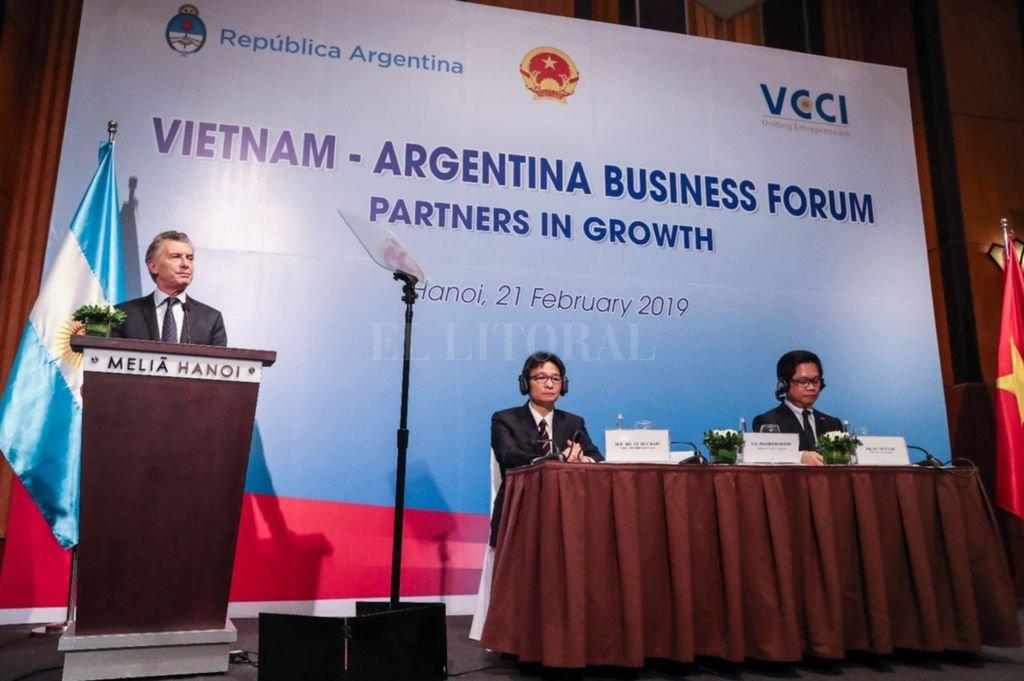 Como cierre de la visita en Vietnam, Macri aseguró que estamos