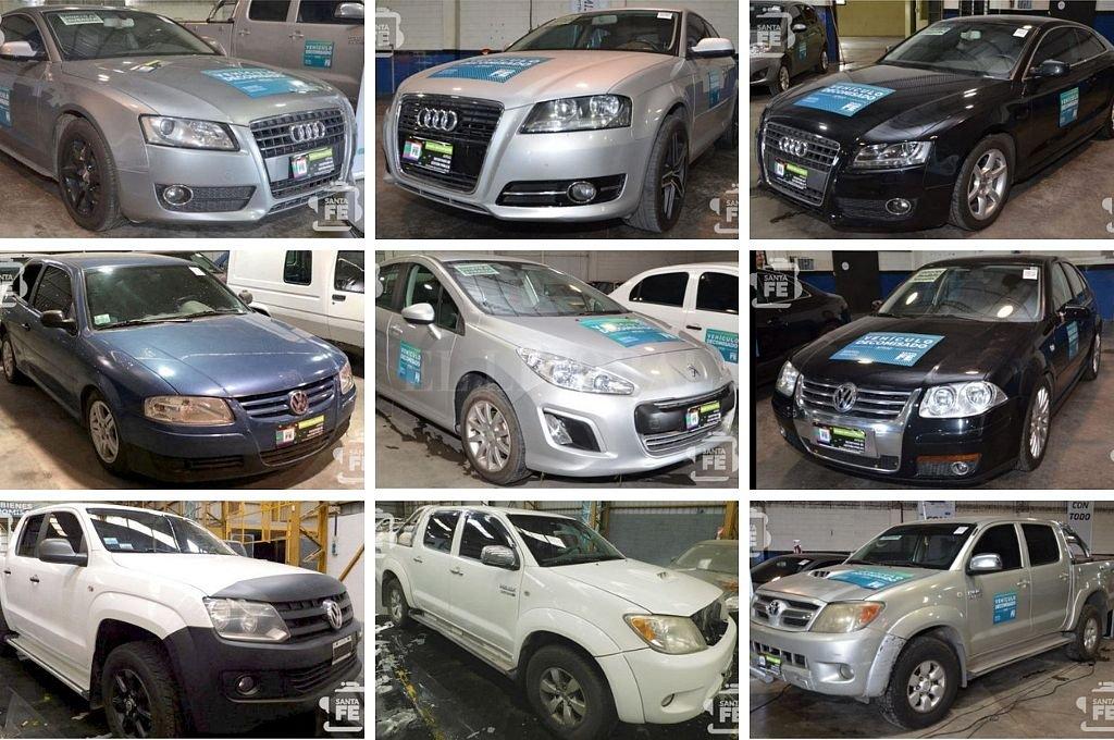 27 vehículos incautados a delincuentes serán subastados en Santa Fe - Algunos de los autos que serán subastados en Santa Fe el 7 de marzo. -
