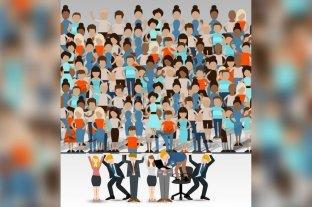"""""""Rubios"""" que sostienen a """"morochos"""", una ilustración del gobierno que roza la xenofobia -"""