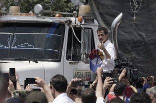 Ingresó a Venezuela ayuda humanitaria - Juan Guaidó acompañó el ingreso a Venezuela de uno de los camiones con toneladas de ayuda humanitaria. -