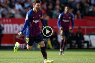 Tres goles de Messi en la victoria de Barcelona sobre Sevilla -  -