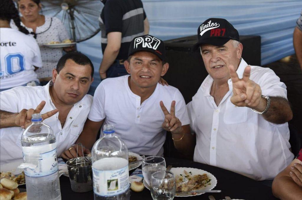"""El Pulga Rodríguez confirmó que """"juega"""" para Manzur-Jaldo en las próximas elecciones en Tucumán. En la foto, durante el acto del sábado en Simoca. <strong>Foto:</strong> Tucsinfiltro.com.ar"""