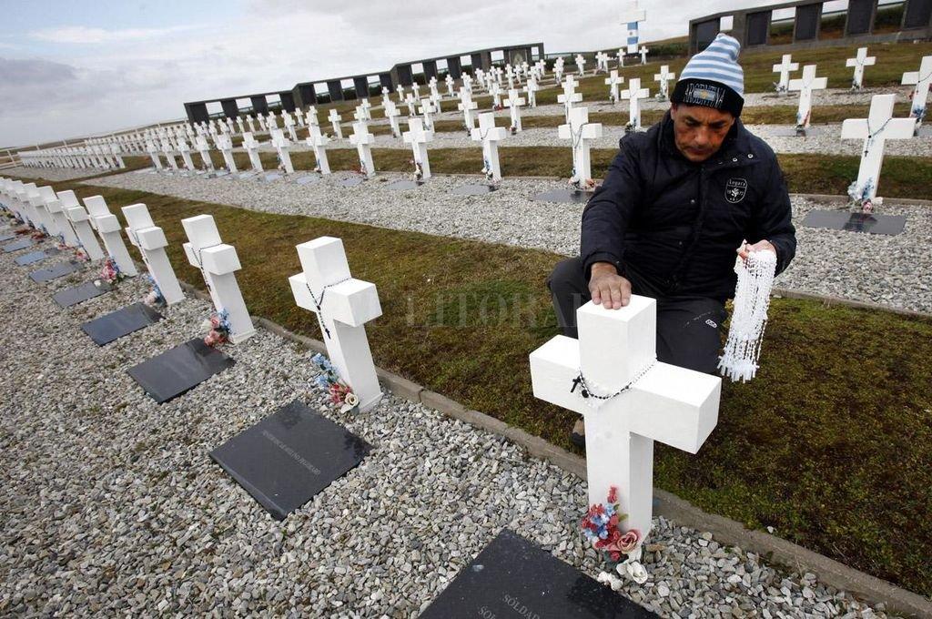 Son 108 los soldados argentinos que descansan en el Cementerio Darwin de las Islas Malvinas. Crédito: Archivo