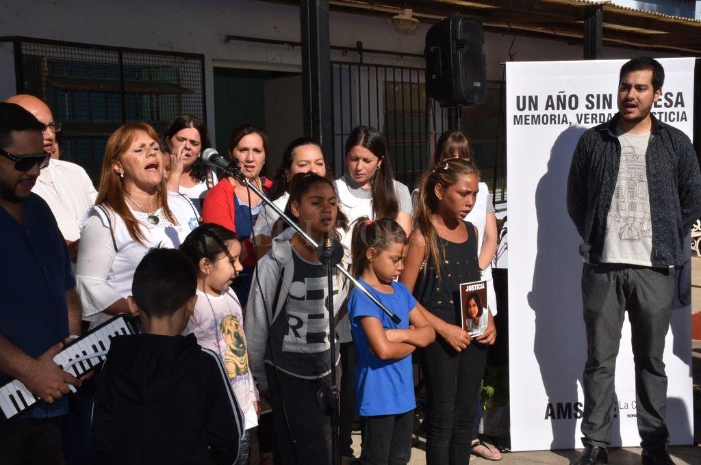Homenaje a un año de la muerte de Vanesa Castillo. <strong>Foto:</strong> Flavio Raina