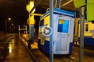 Video: así se vivió el temporal en el peaje de Franck