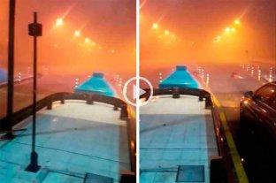 Video: la tormenta se sintió en la cabina del túnel subfluvial