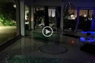 Un gran susto en un casamiento en medio de la tormenta en Santa Fe