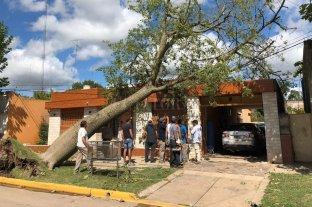 General López: hubo voladuras de techos y evacuados por el temporal