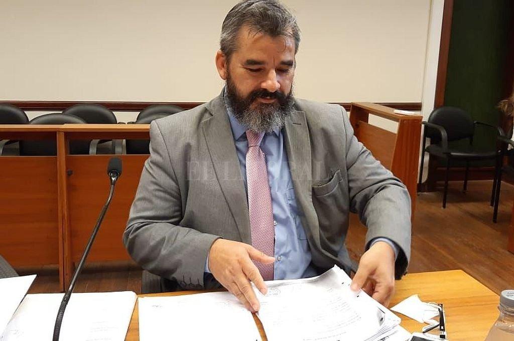 El fiscal Andrés Marchi solicitó 20 años de prisión para EEC. Crédito: Archivo El Litoral