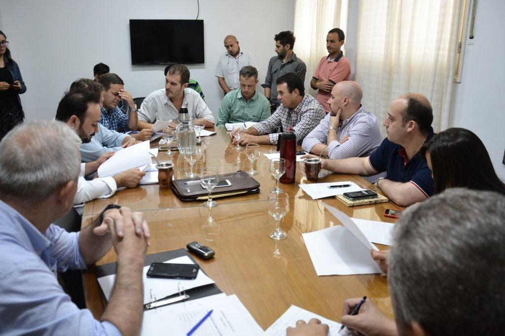 La reunión de este miércoles de la comisión de Hacienda. Veglia no asistió. <strong>Foto:</strong> Gentileza