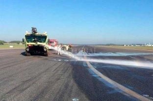 Por un derrame de aceite debieron cerrar el aeropuerto internacional de Ezeiza -  -