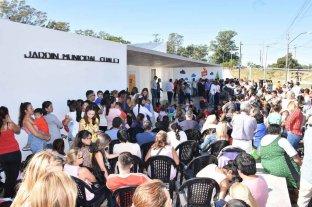 Educación inicial: se inauguró el Jardín Municipal de Chalet -  -