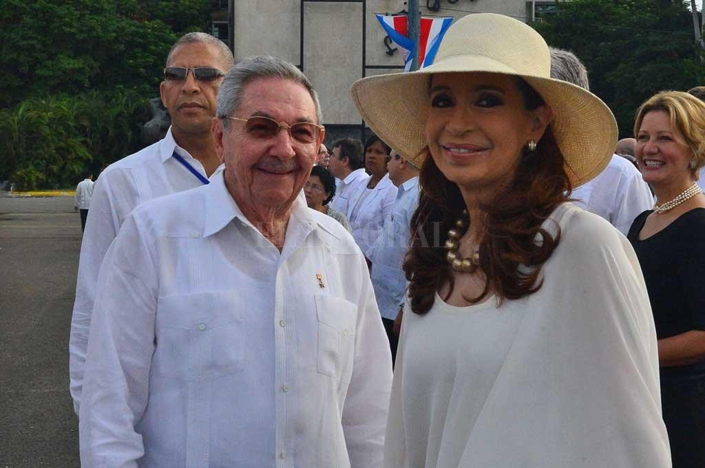 Raúl Castro recibió a Cristina Kirchner en La Habana