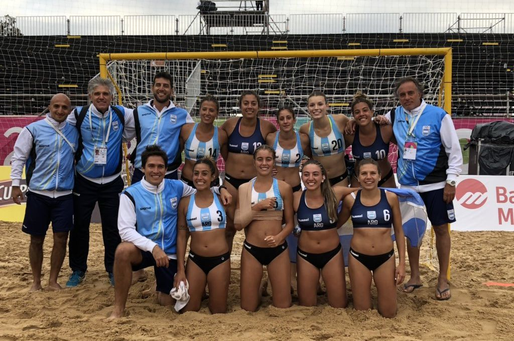 Por primera vez en la historia, las chicas argentinas vencieron a sus pares brasileñas para asegurarse el oro en Rosario.  Crédito: Gentileza Comité Olímpico Argentino