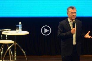 """Macri: """"Estoy caliente con quienes proponen soluciones mágicas"""" -  -"""