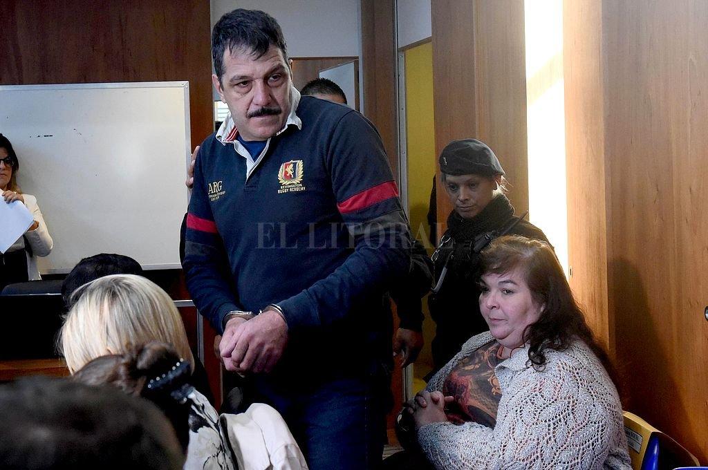 Gabriel Strumia, amante de Paula Perassi, y Roxana Michl, esposa de Strumia. Para ambos la fiscalía pidió prisión perpetua. <strong>Foto:</strong> Telam