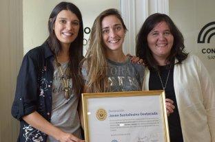 Macarena Sánchez fue reconocida en el Concejo de la ciudad
