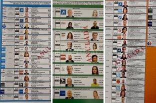 Mirá cómo serán las boletas para las PASO - Boletas presentadas en el Tribunal Electoral.