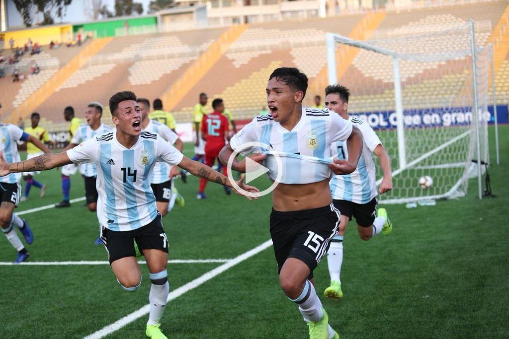Sudamericano sub 17: Argentina derrotó a Colombia