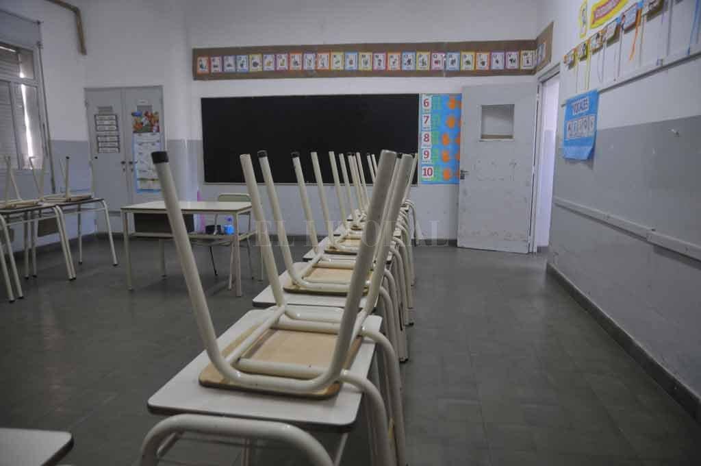 Imagen que se repite todos los años. Aulas vacías en las escuelas públicas santafesinas.  <strong>Foto:</strong> Archivo El Litoral