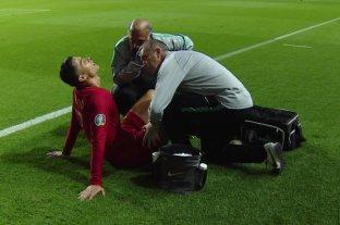 Cristiano Ronaldo se lesionó en el empate de Portugal ante Serbia