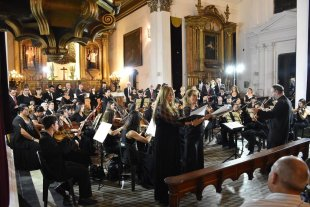 El Polifónico abre su temporada  - El coro durante el cierre de la temporada 2018. -