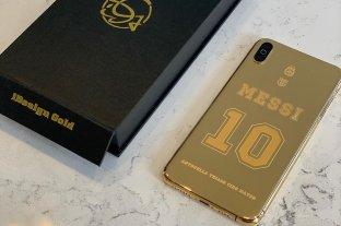 El nuevo celular de Messi: oro de 24 kilates