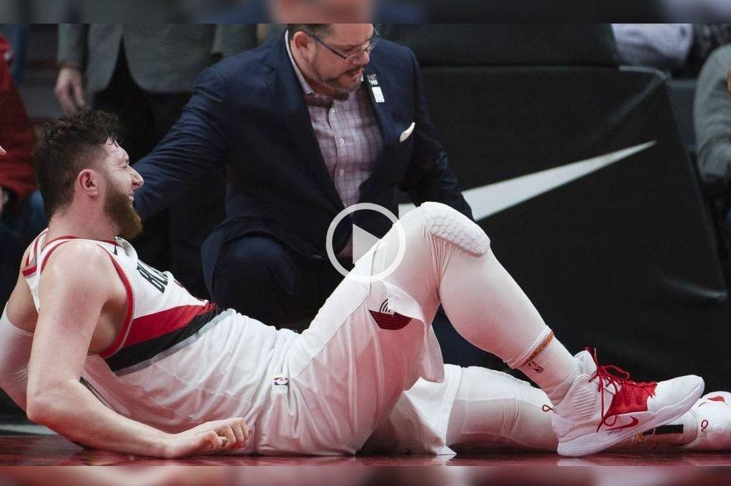 Imágenes sensibles: Dura lesión en la NBA