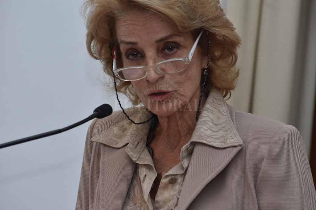 La titular de la Corte Suprema de Justicia, María Angélica Gastaldi, encabeza el Tribunal Electoral de la Provincia. <strong>Foto:</strong> Guillermo Di Salvatore