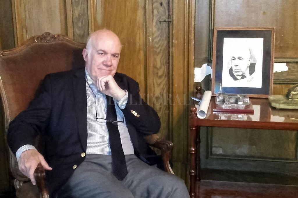 José Luis Moure, presidente de la Academia Argentina de Letras. <strong>Foto:</strong> Télam