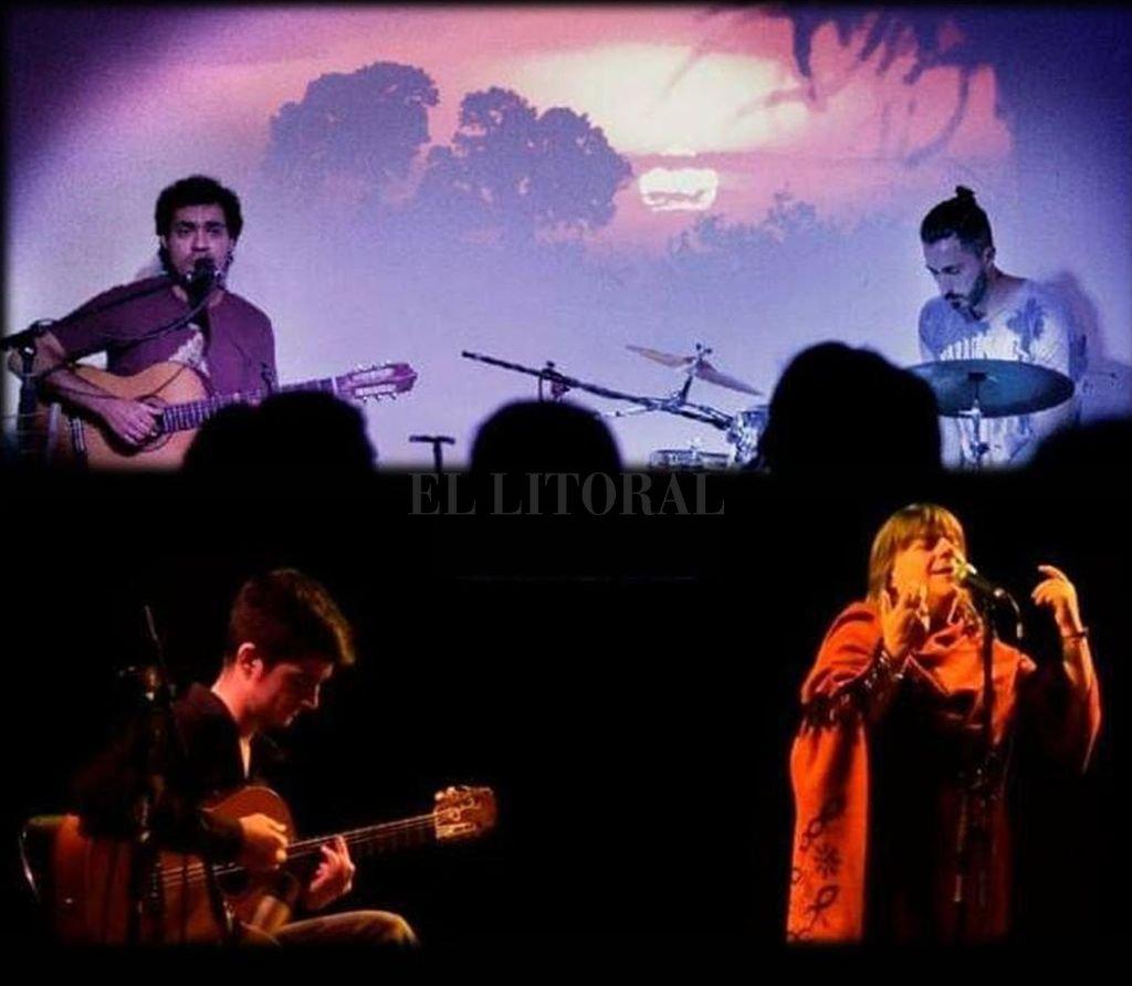 El dúo de Marcela Bassano y Valentín Cosso compartirá escenario este viernes con Palo Ruiz y la Buena Madera. Crédito: Gentileza producción