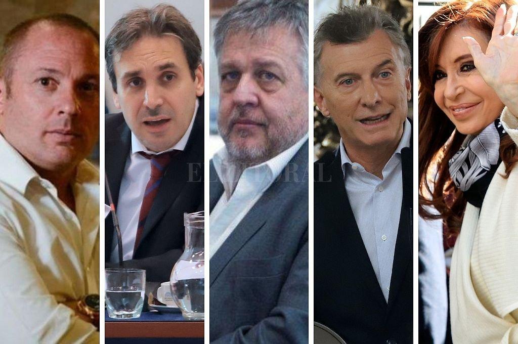 D´Alessio, Ramos Padilla, Stornelli, Macri y Cristina Fernández. Crédito: El Litoral