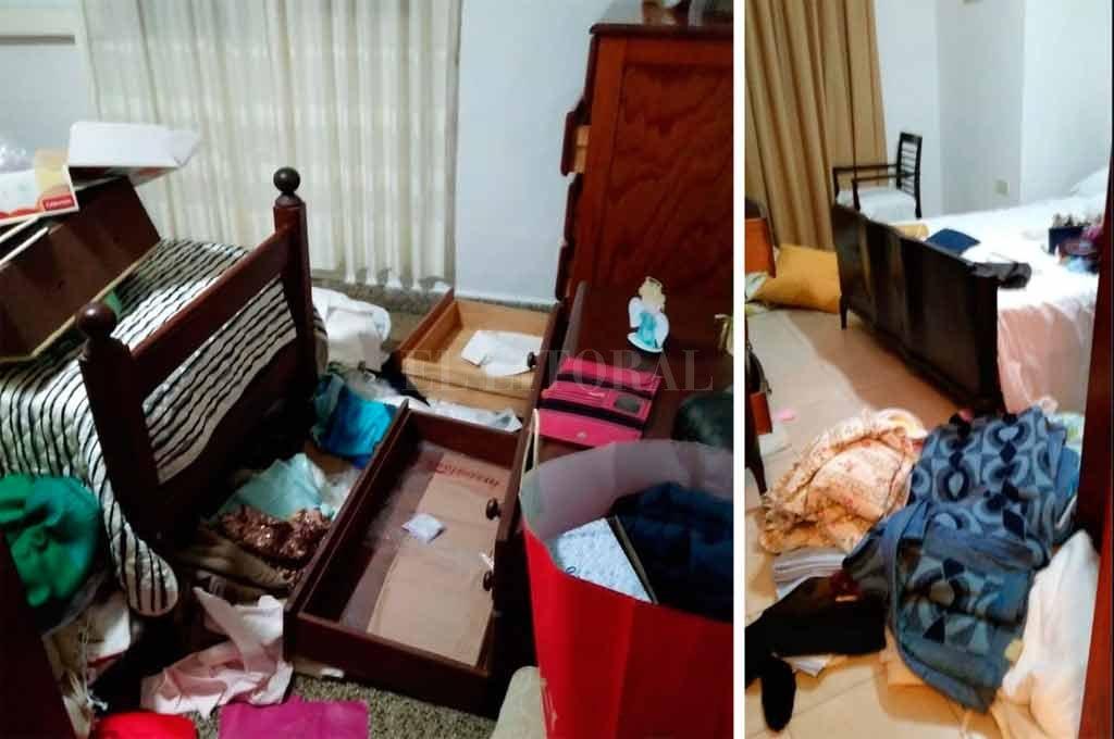 El estado en que quedó una vivienda tras el paso de los delincuentes el sábado a la noche.  <strong>Foto:</strong> El Litoral