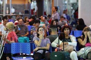 Fuerte congestión de pasajeros en la Terminal por la asamblea del servicio de media distancia