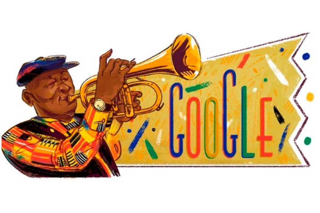 Google celebra el 80º anivesario del nacimiento de Hugh Masekela. <strong>Foto:</strong> Gentileza.