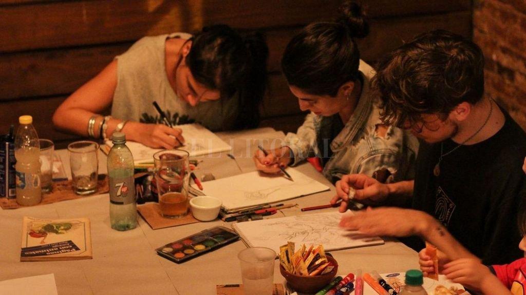 """""""Mostrar el gesto del dibujar por sobre el resultado"""": en ese punto se pondrá el acento en la jam de dibujo. <strong>Foto:</strong> Colectivo Pinta en Babia"""