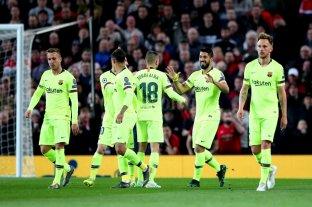 Barcelona sacó una mínima ventaja en su visita al Manchester United