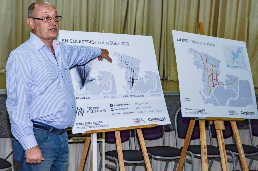 Cantard explicó en el encuentro algunas de sus propuestas para mejorar la movilidad urbana en la ciudad.  <strong>Foto:</strong> Gentileza.