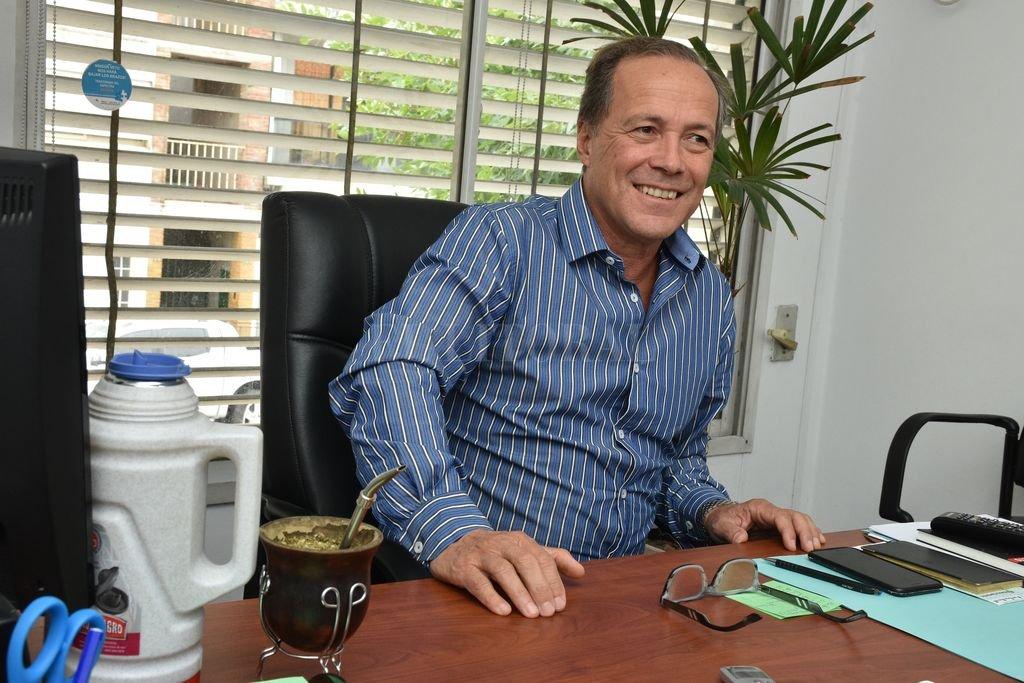 """""""La educación es la mejor política social"""", aseguró el legislador provincial y precandidato a otro período en Diputados. Crédito: Guillermo Di Salvatore"""