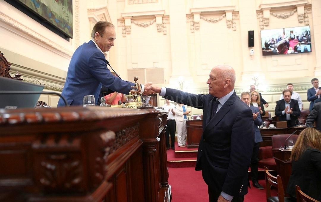 Eduardo Di Pollina y Antonio Bonfatti en la Cámara de Diputados.  <strong>Foto:</strong> Archivo El Litoral