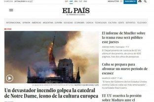 El incendio en Notre Dame reflejado en los medios del mundo