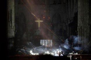 Las fotos del interior de la catedral de Notre Dame tras el grave incendio